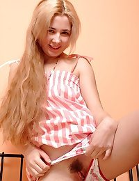 Super-cute platinum-blonde