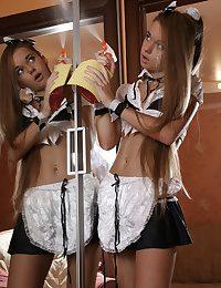 Glorious nubile maid