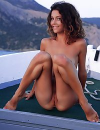 Naked sweetheart on the river