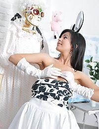Impressively hot fluffy bunny